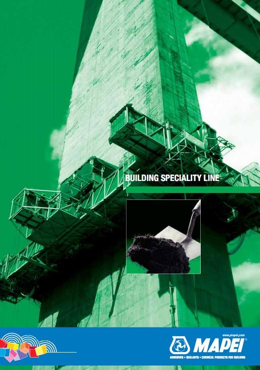 Pagina 1 - Mortare, materiale speciale MAPEI Catalog, brosura Engleza BUILDING SPECIALITY LINE ...