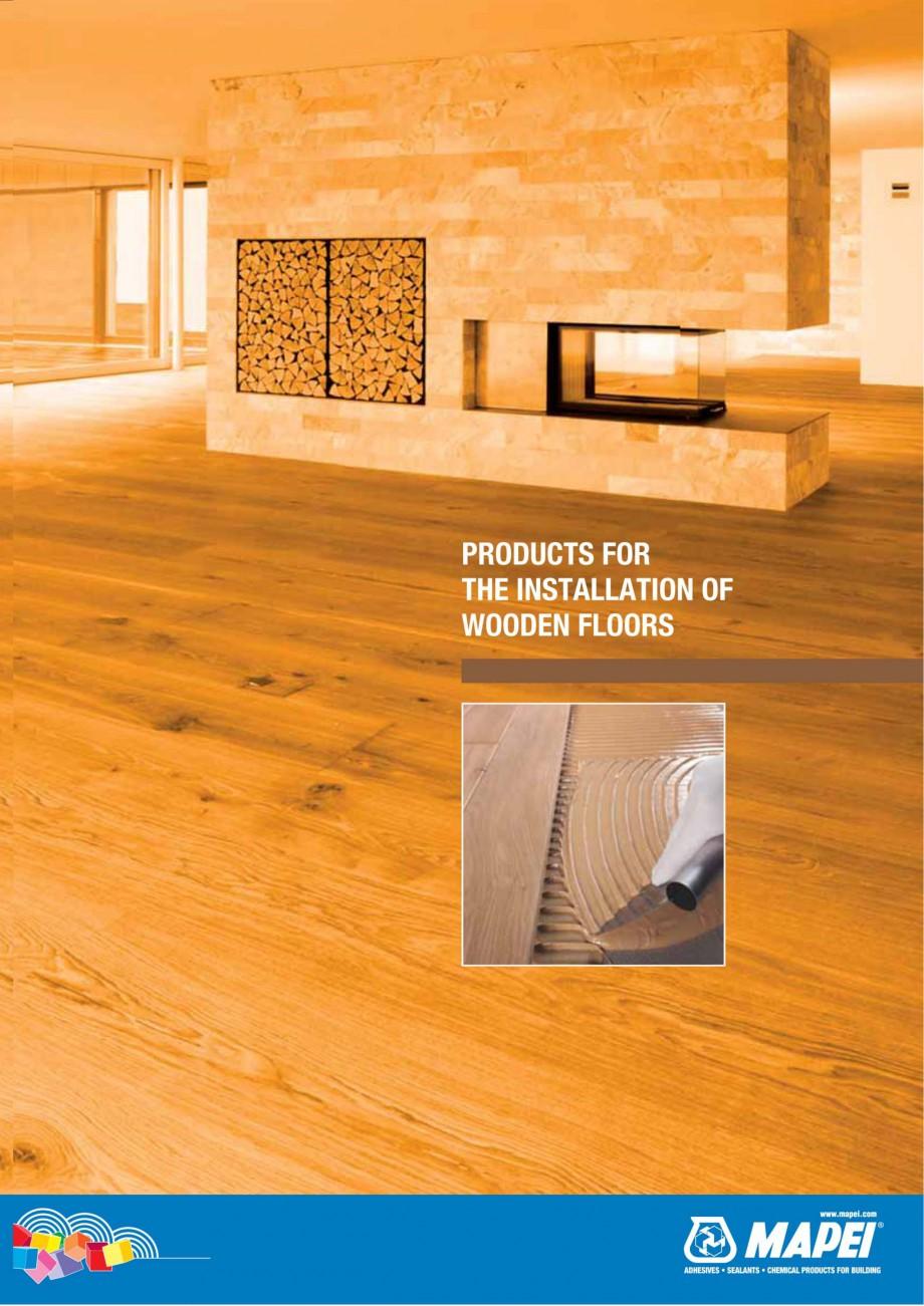 Pagina 1 - Materiale montaj, finisare si intretinere parchet 2011 MAPEI Catalog, brosura Engleza...