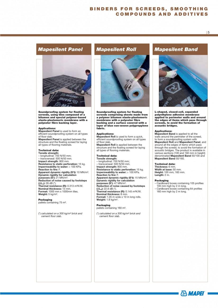 Pagina 7 - Materiale montaj, finisare si intretinere parchet 2011 MAPEI Catalog, brosura Engleza e  ...