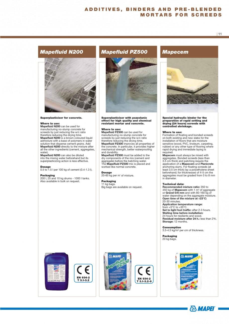 Pagina 13 - Materiale montaj, finisare si intretinere parchet 2011 MAPEI Catalog, brosura Engleza m....