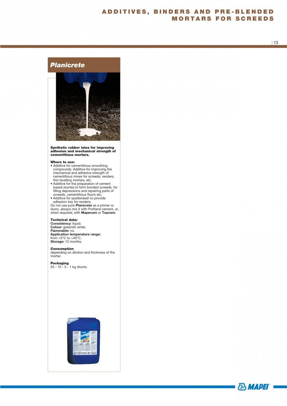 Pagina 15 - Materiale montaj, finisare si intretinere parchet 2011 MAPEI Catalog, brosura Engleza...