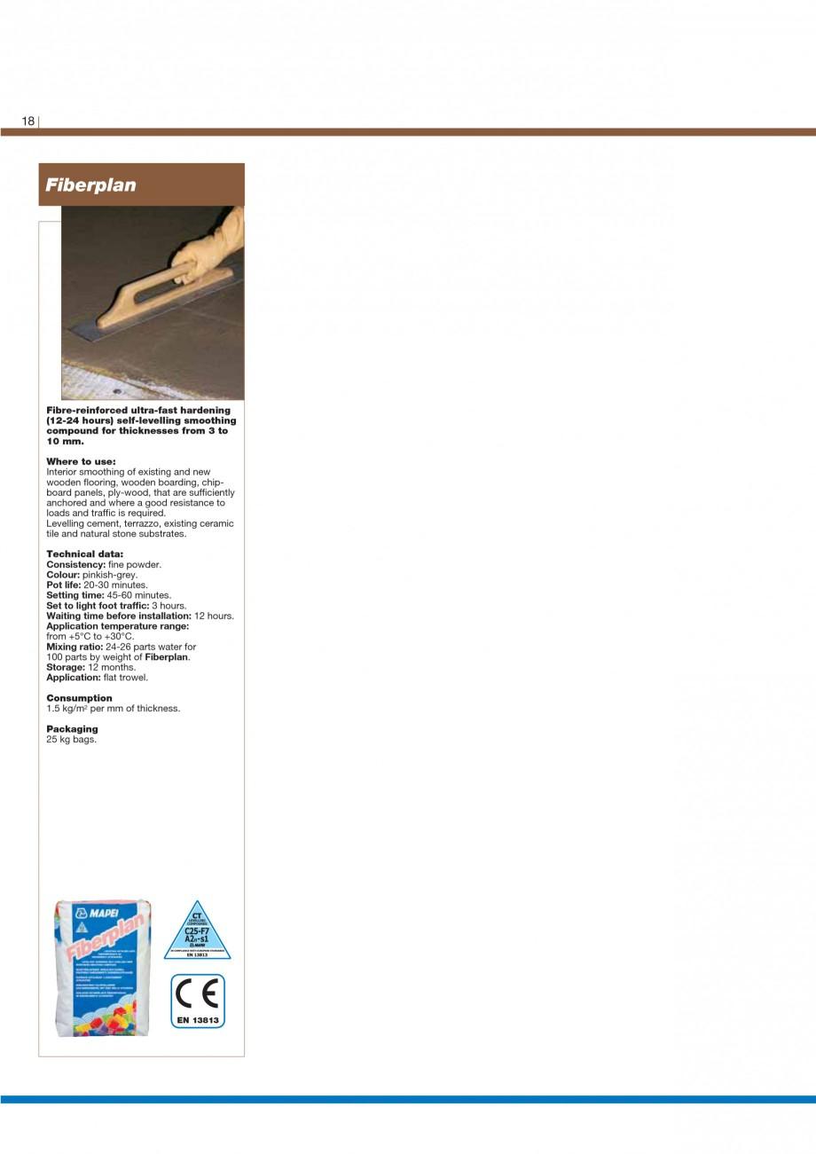 Pagina 20 - Materiale montaj, finisare si intretinere parchet 2011 MAPEI Catalog, brosura Engleza s ...