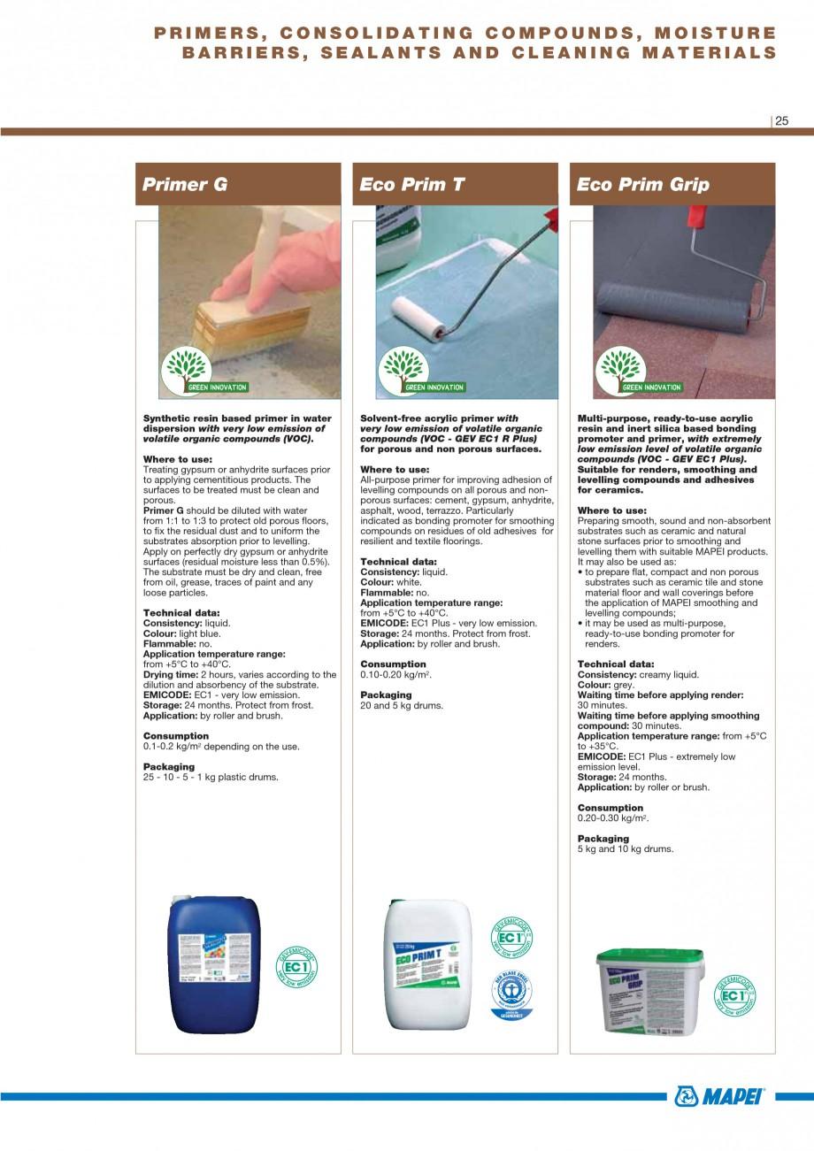 Pagina 27 - Materiale montaj, finisare si intretinere parchet 2011 MAPEI Catalog, brosura Engleza...
