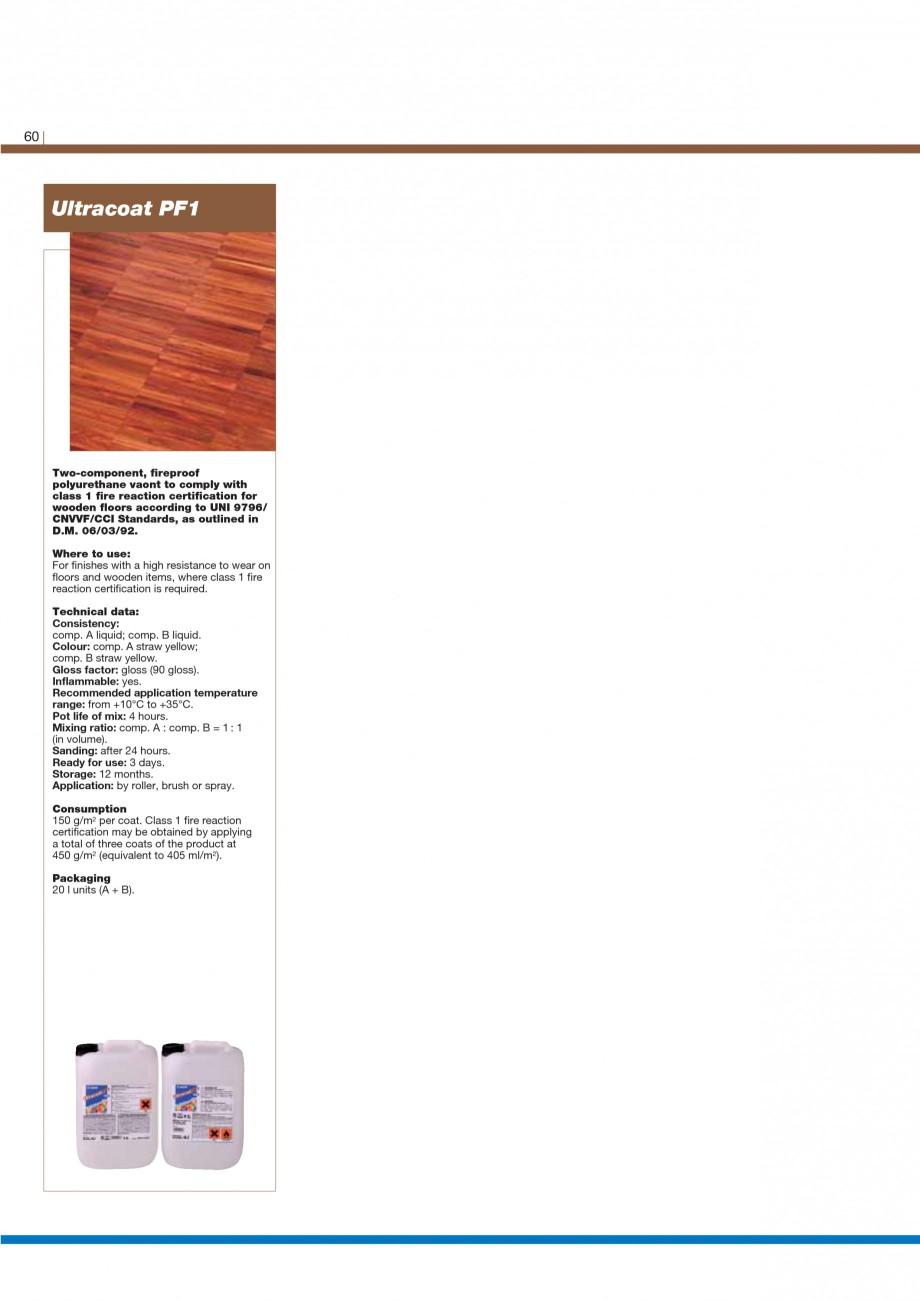 Pagina 62 - Materiale montaj, finisare si intretinere parchet 2011 MAPEI Catalog, brosura Engleza...