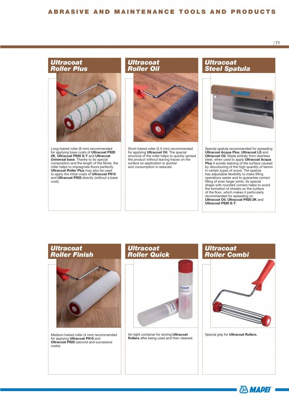 Pagina 73 - Materiale montaj, finisare si intretinere parchet 2011 MAPEI Catalog, brosura Engleza...