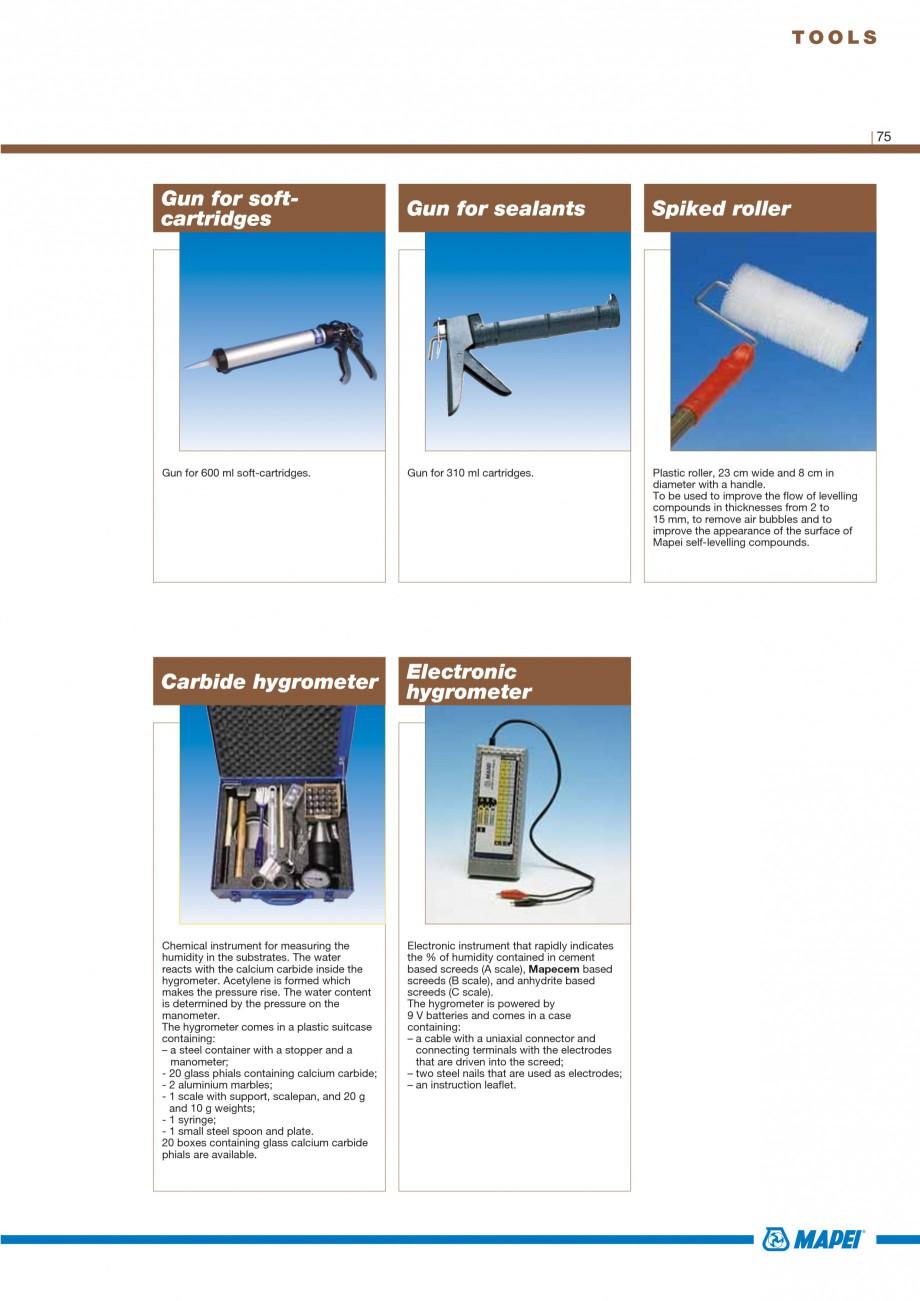 Pagina 77 - Materiale montaj, finisare si intretinere parchet 2011 MAPEI Catalog, brosura Engleza...