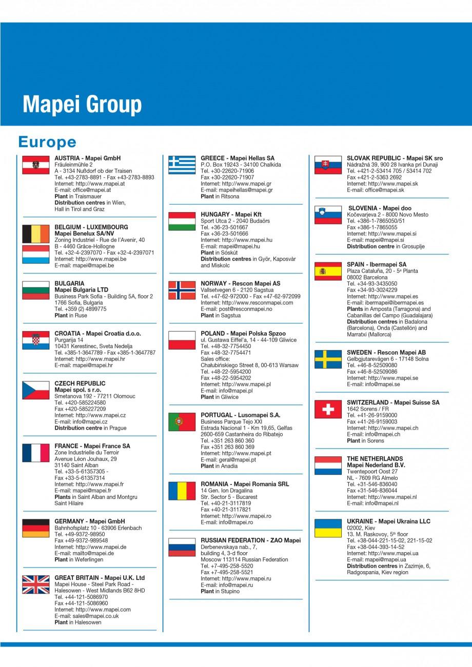 Pagina 80 - Materiale montaj, finisare si intretinere parchet 2011 MAPEI Catalog, brosura Engleza...