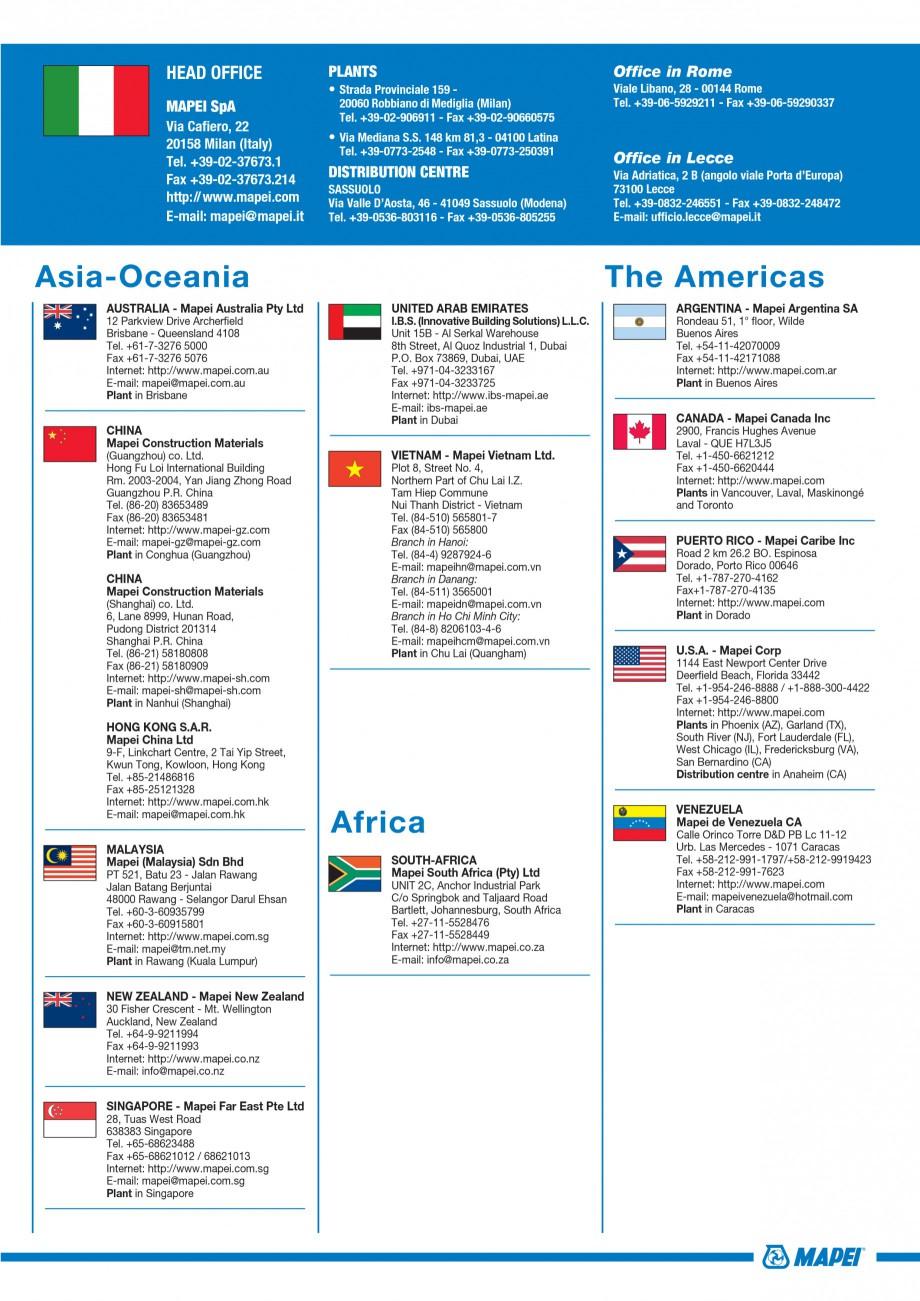 Pagina 81 - Materiale montaj, finisare si intretinere parchet 2011 MAPEI Catalog, brosura Engleza   ...