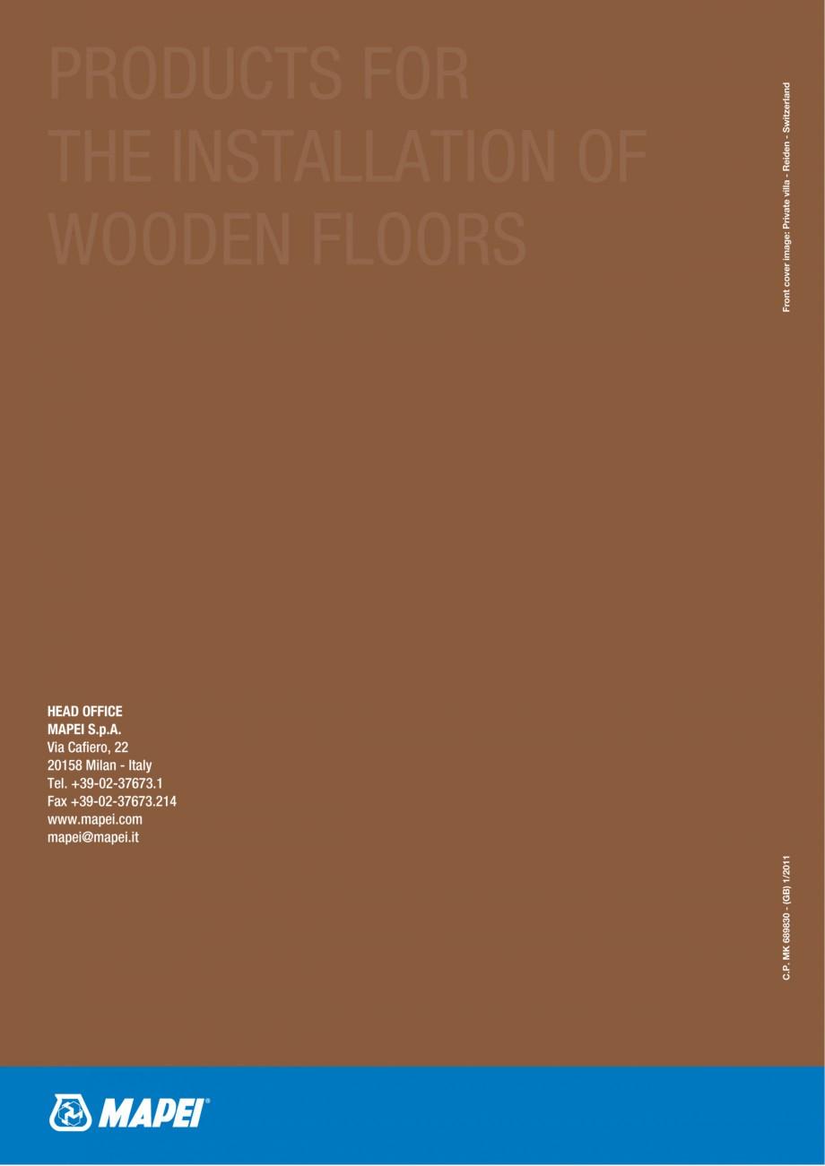 Pagina 84 - Materiale montaj, finisare si intretinere parchet 2011 MAPEI Catalog, brosura Engleza n ...