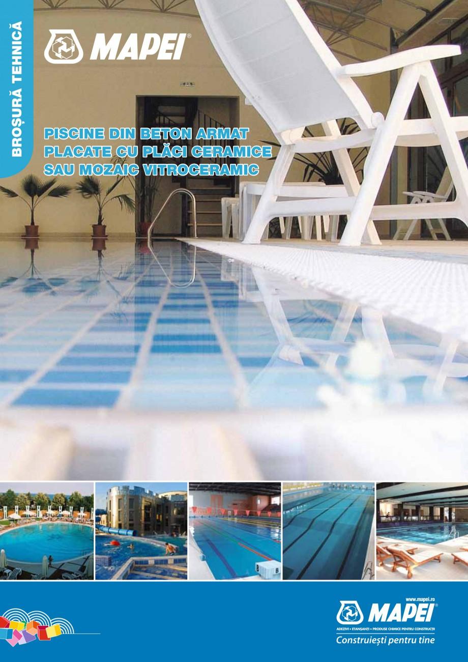 Pagina 1 - Ghid constructia piscinelor din beton armat MAPEI KERABOND T-R Catalog, brosura Romana...