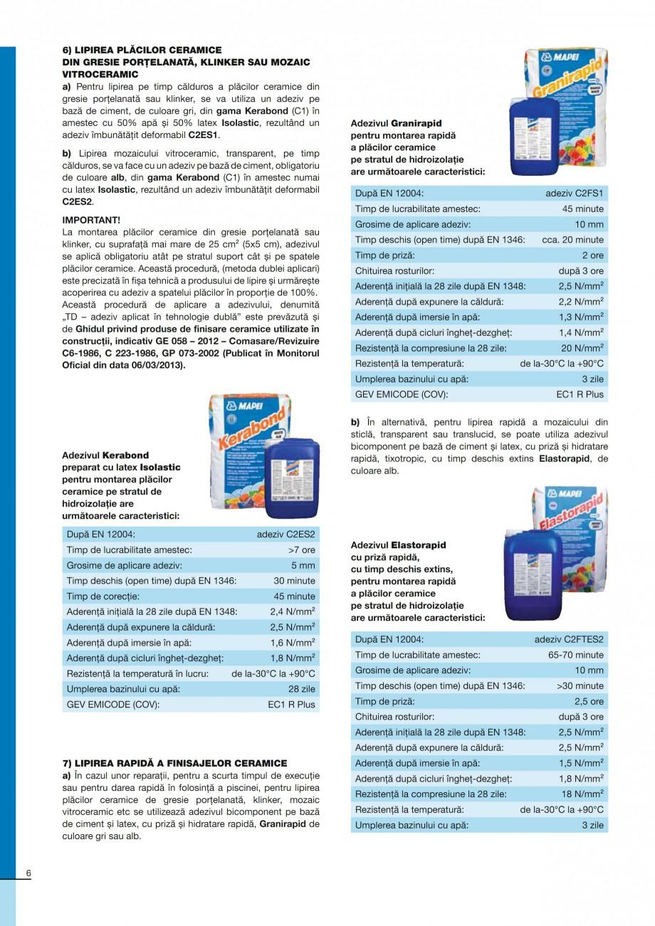 Pagina 6 - Ghid constructia piscinelor din beton armat MAPEI KERABOND T-R Catalog, brosura Romana...