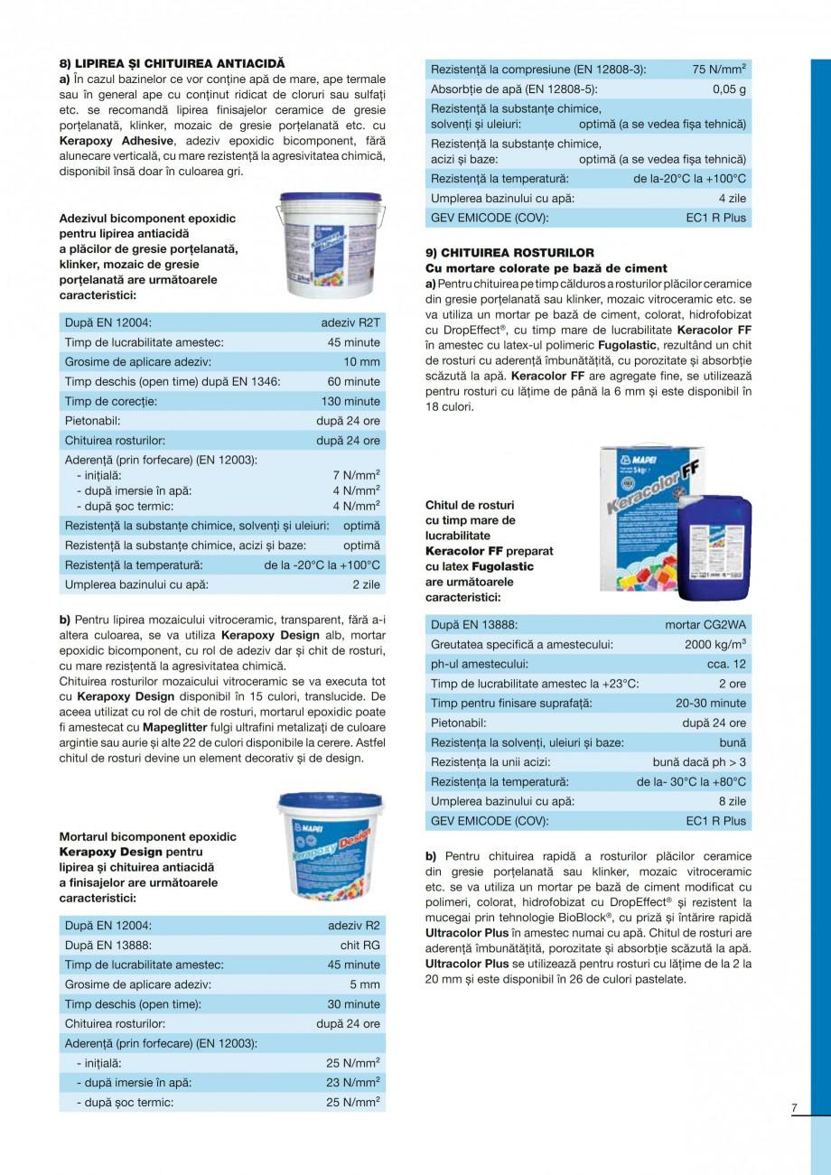 Pagina 7 - Ghid constructia piscinelor din beton armat MAPEI KERABOND T-R Catalog, brosura Romana...