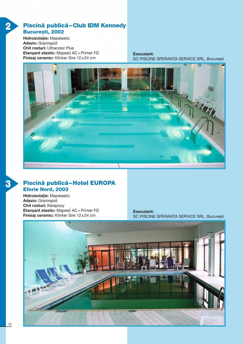 Pagina 12 - Ghid constructia piscinelor din beton armat MAPEI KERABOND T-R Catalog, brosura Romana...
