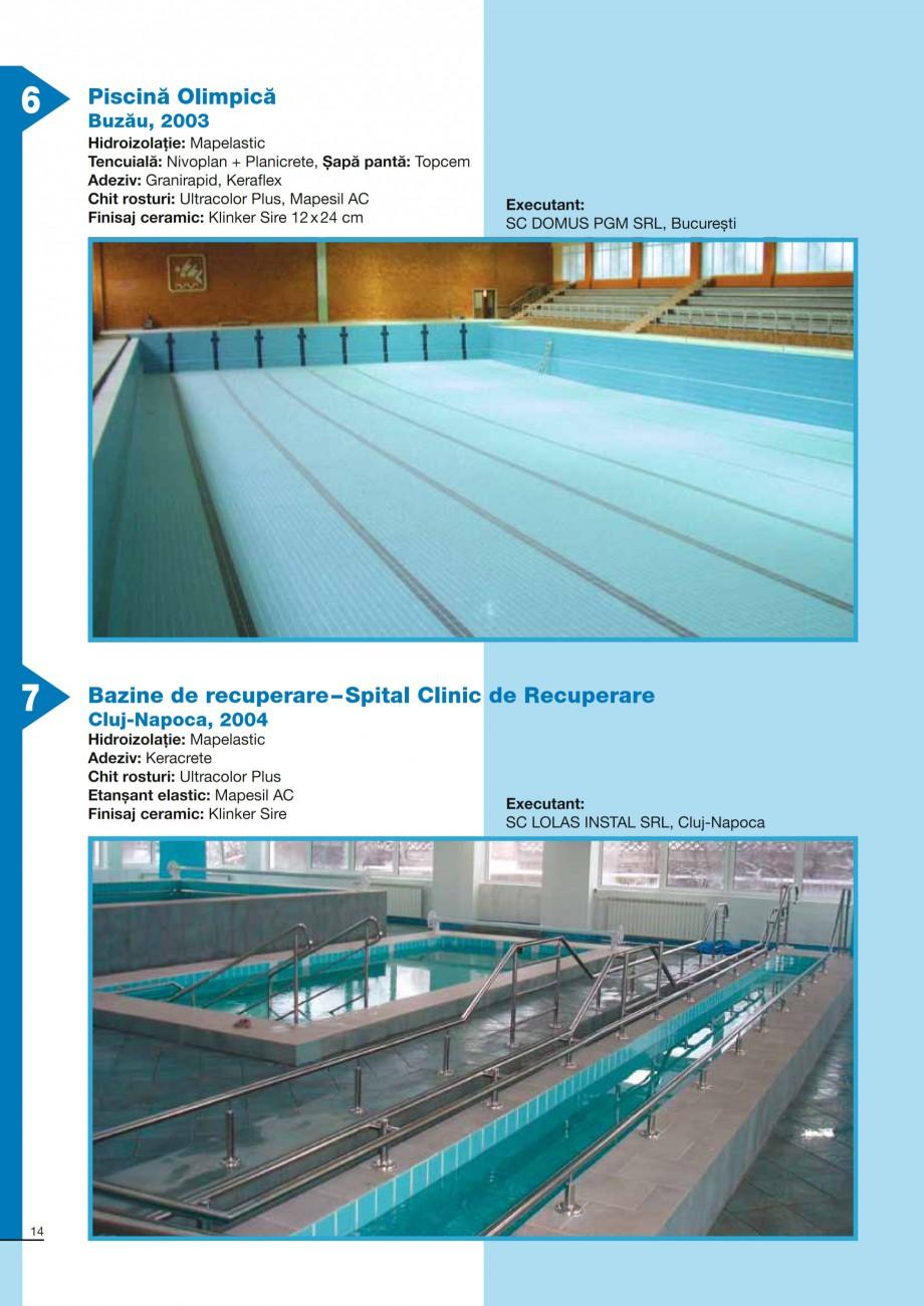 Pagina 14 - Ghid constructia piscinelor din beton armat MAPEI KERABOND T-R Catalog, brosura Romana  ...