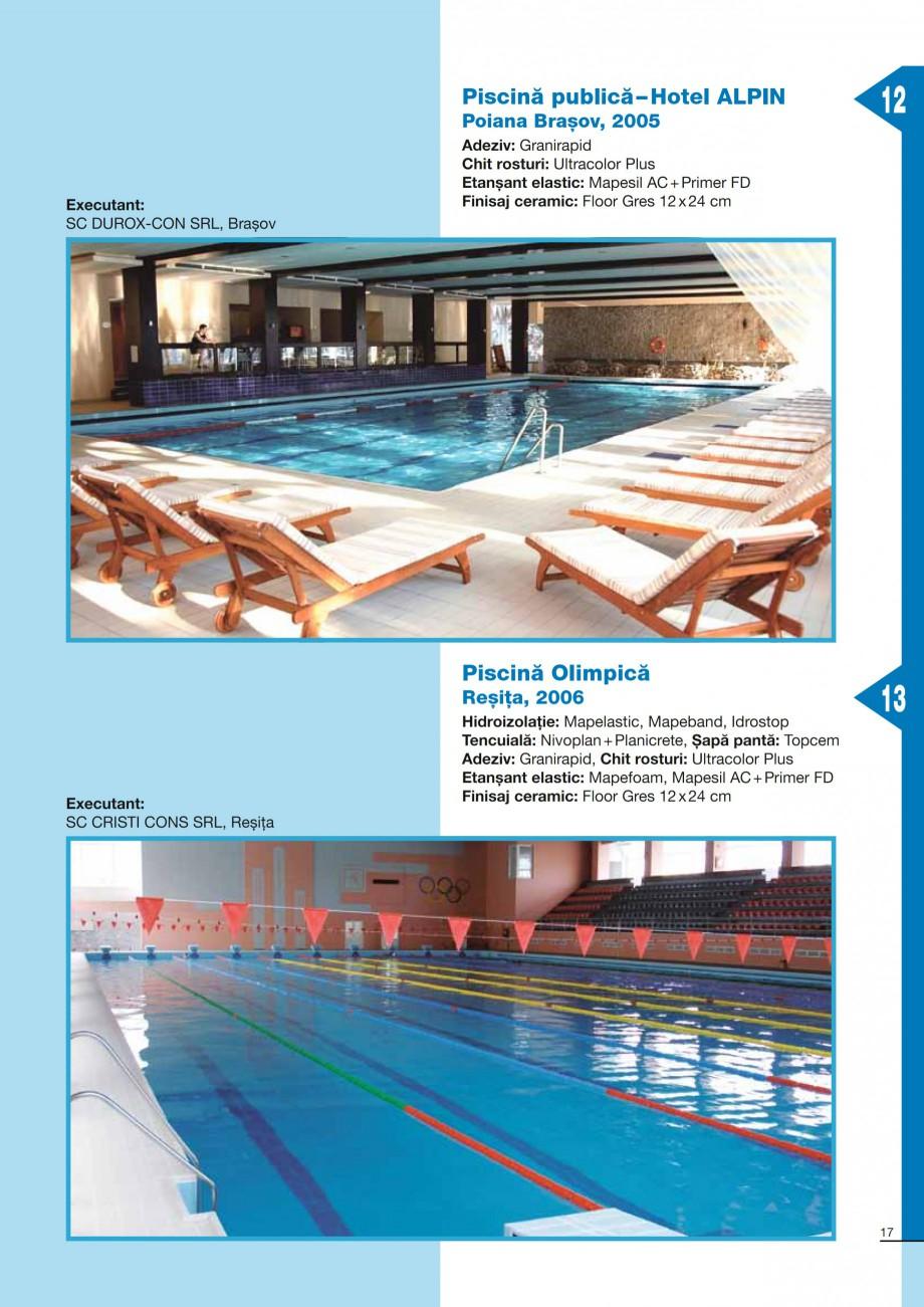 Pagina 17 - Ghid constructia piscinelor din beton armat MAPEI KERABOND T-R Catalog, brosura Romana a...