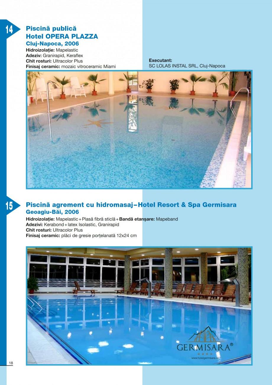 Pagina 18 - Ghid constructia piscinelor din beton armat MAPEI KERABOND T-R Catalog, brosura Romana...