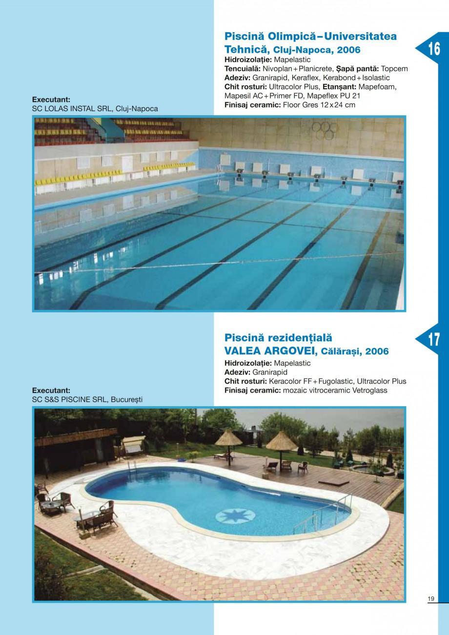 Pagina 19 - Ghid constructia piscinelor din beton armat MAPEI KERABOND T-R Catalog, brosura Romana...