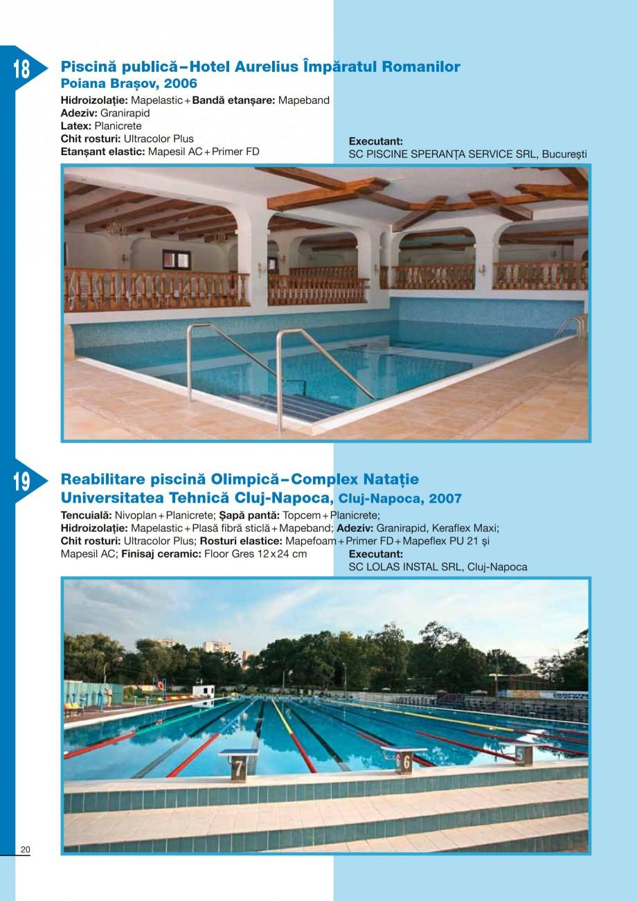 Pagina 20 - Ghid constructia piscinelor din beton armat MAPEI KERABOND T-R Catalog, brosura Romana...