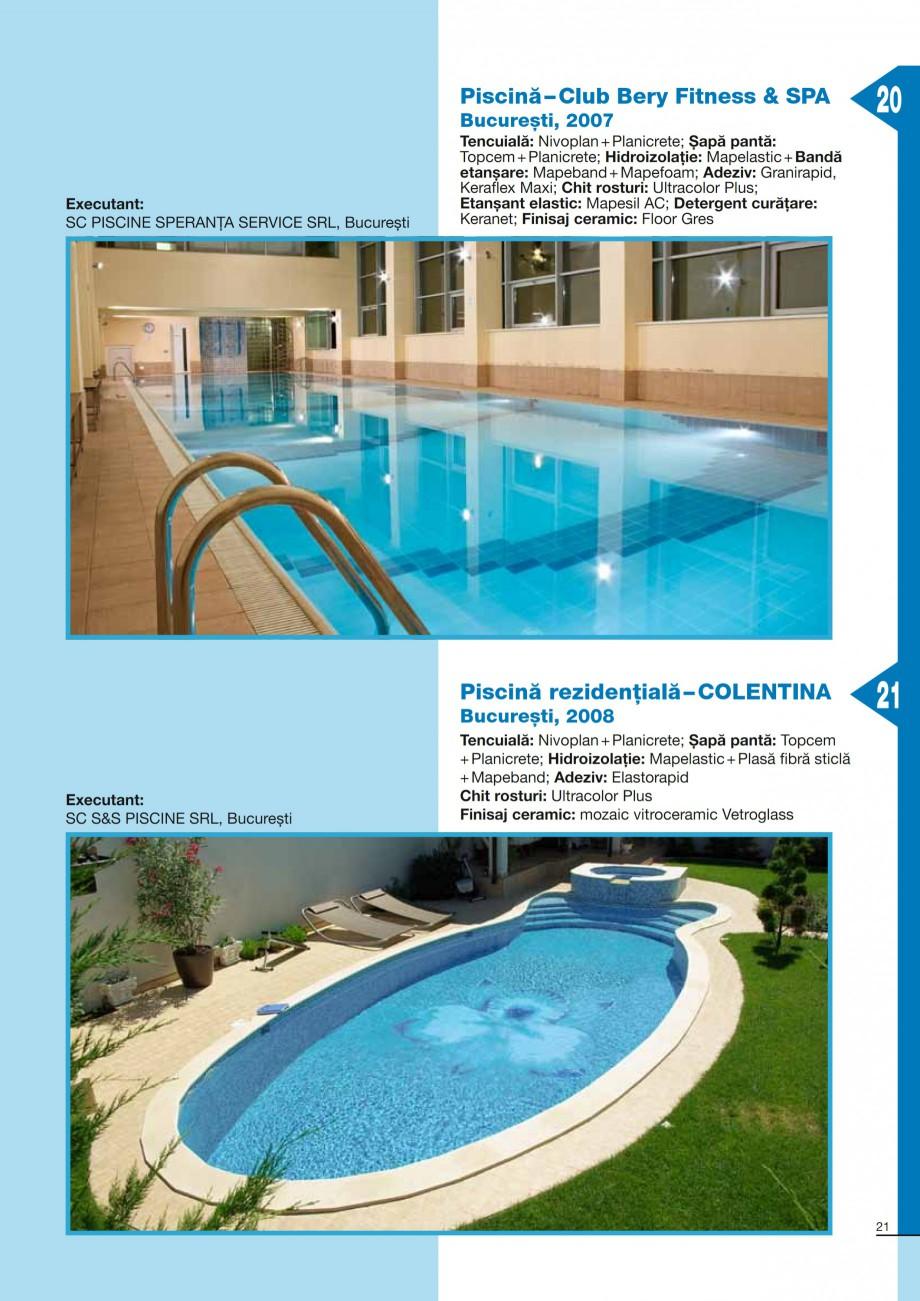 Pagina 21 - Ghid constructia piscinelor din beton armat MAPEI KERABOND T-R Catalog, brosura Romana...