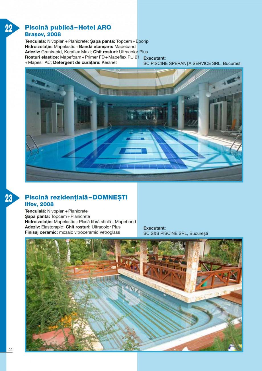 Pagina 22 - Ghid constructia piscinelor din beton armat MAPEI KERABOND T-R Catalog, brosura Romana r...