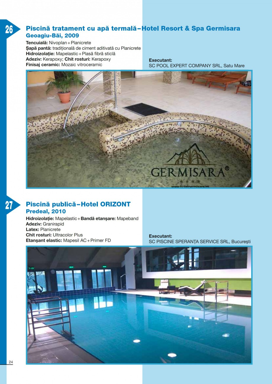 Pagina 24 - Ghid constructia piscinelor din beton armat MAPEI KERABOND T-R Catalog, brosura Romana...
