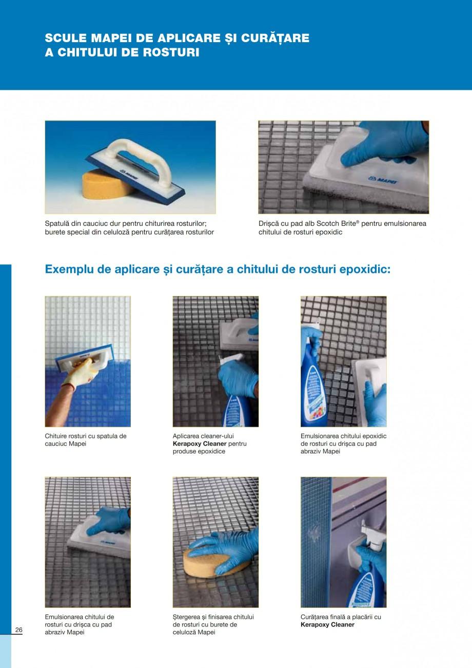 Pagina 26 - Ghid constructia piscinelor din beton armat MAPEI KERABOND T-R Catalog, brosura Romana...