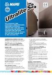 Adeziv special pentru montajul placilor mari si a placilor subtiri de gresie portelanata MAPEI - ULTRALITE