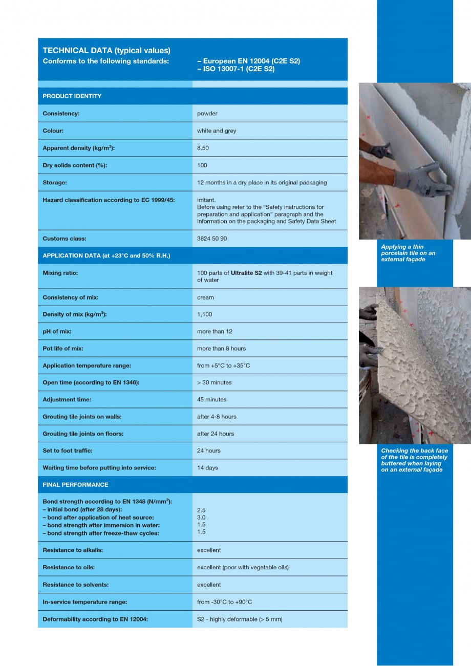 Pagina 3 - Adeziv special pentru montajul placilor mari si a placilor subtiri de gresie portelanata ...
