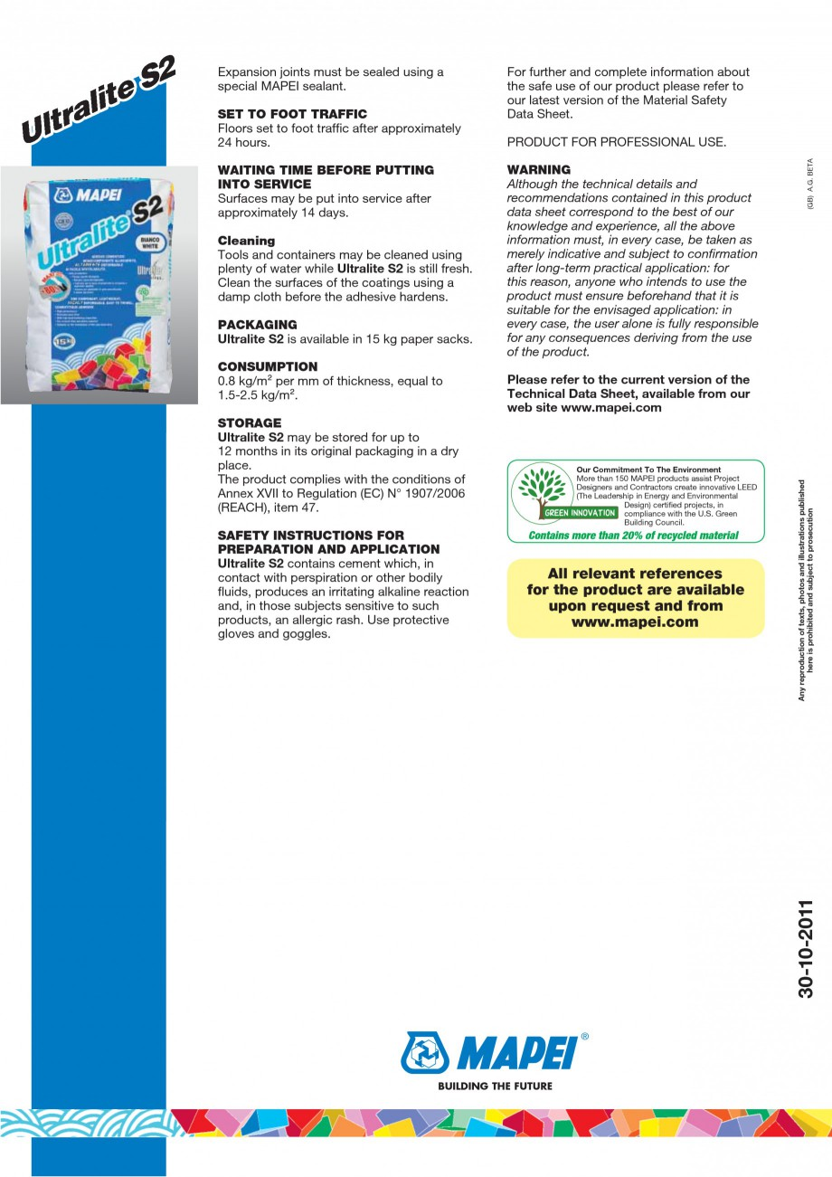 Pagina 4 - Adeziv special pentru montajul placilor mari si a placilor subtiri de gresie portelanata ...