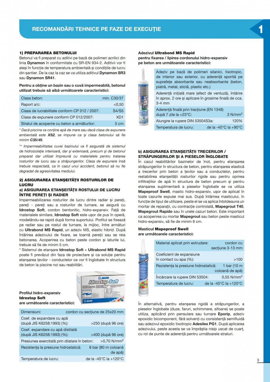 Pagina 3 - Ghid constructia piscinelor din beton armat MAPEI ADESILEX P9, ADESILEX P9 EXPRESS,...