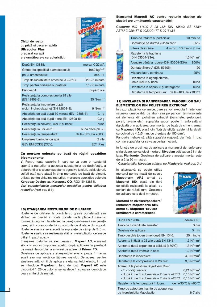 Pagina 8 - Ghid constructia piscinelor din beton armat MAPEI ADESILEX P9, ADESILEX P9 EXPRESS,...