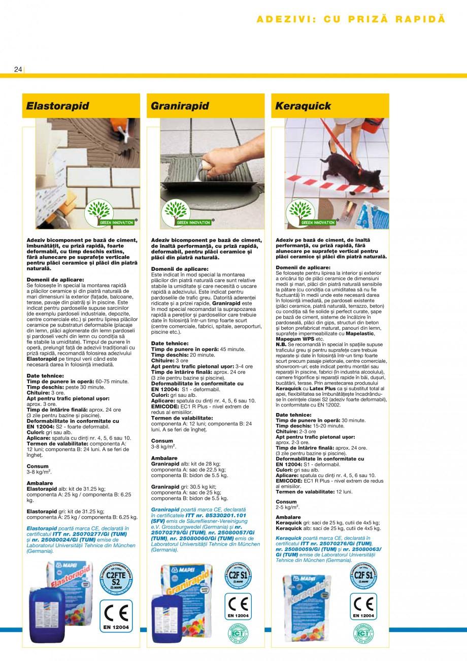 Pagina 26 - Produse pentru montarea placilor ceramice si a placilor din piatra naturala MAPEI...