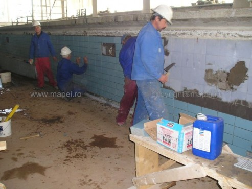 Executie, montaj Granirapid_13 Montare gresie portelanata peste gresie cu Granirapid MAPEI - Poza 13