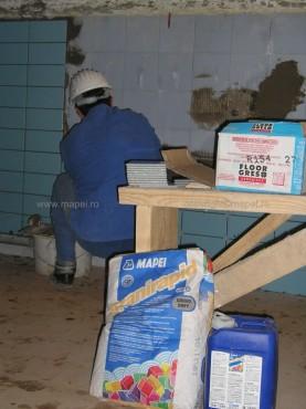 Executie, montaj Granirapid_15 Montare gresie portelanata peste gresie cu Granirapid MAPEI - Poza 15