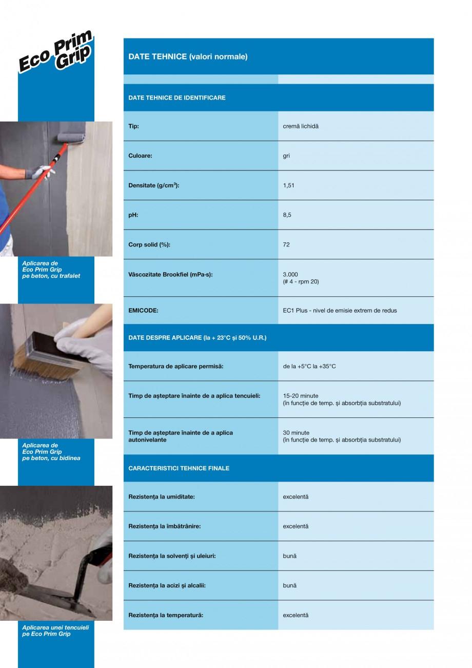 Pagina 2 - Primer promotor universal de aderenta MAPEI ECO PRIM GRIP Fisa tehnica Romana izare P •...