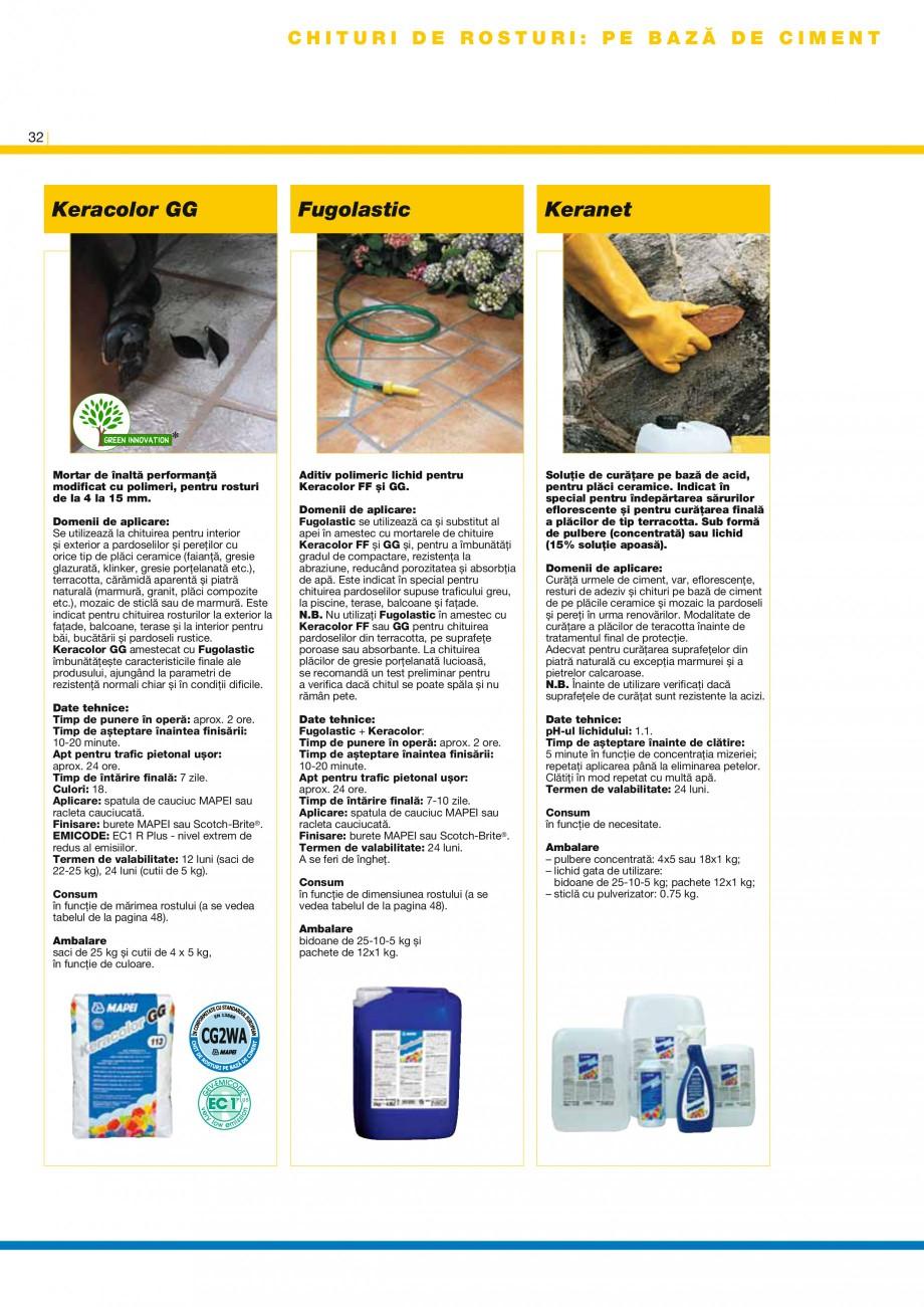 Pagina 34 - Produse pentru montarea placilor ceramice si a placilor din piatra naturala MAPEI...