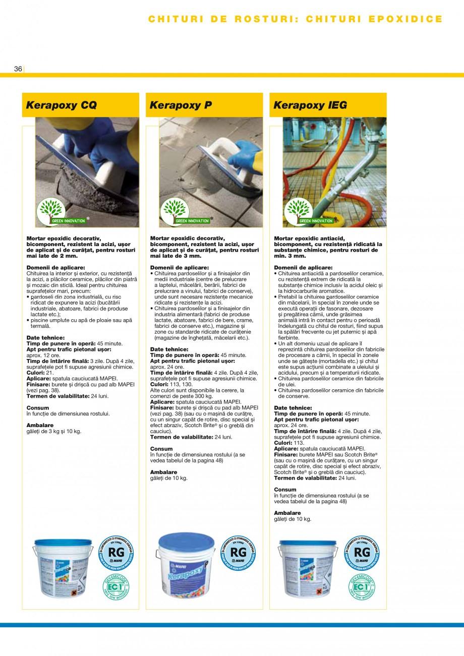 Pagina 38 - Produse pentru montarea placilor ceramice si a placilor din piatra naturala MAPEI...