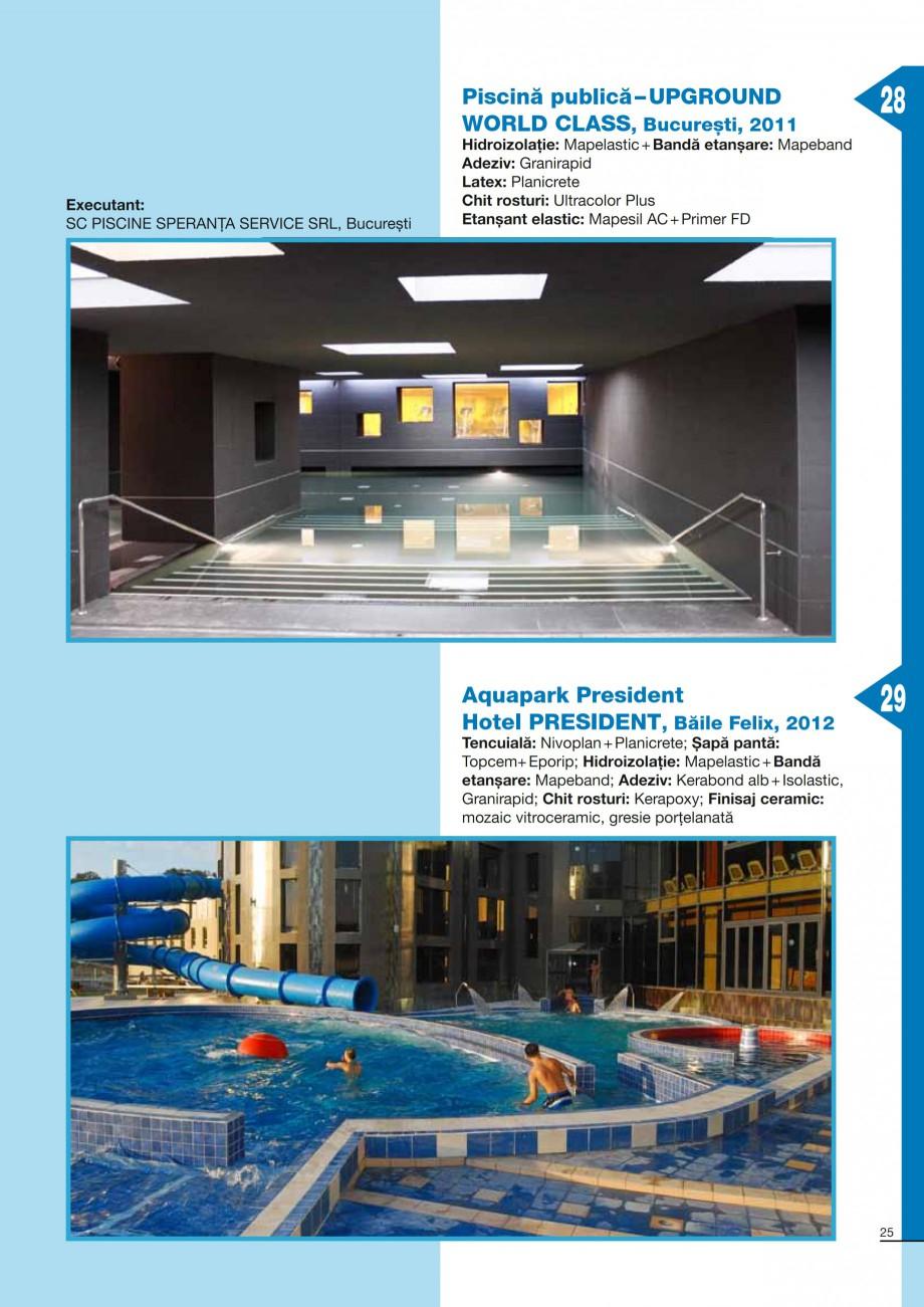 Pagina 25 - Ghid constructia piscinelor din beton armat MAPEI Catalog, brosura Romana andă lipirea ...