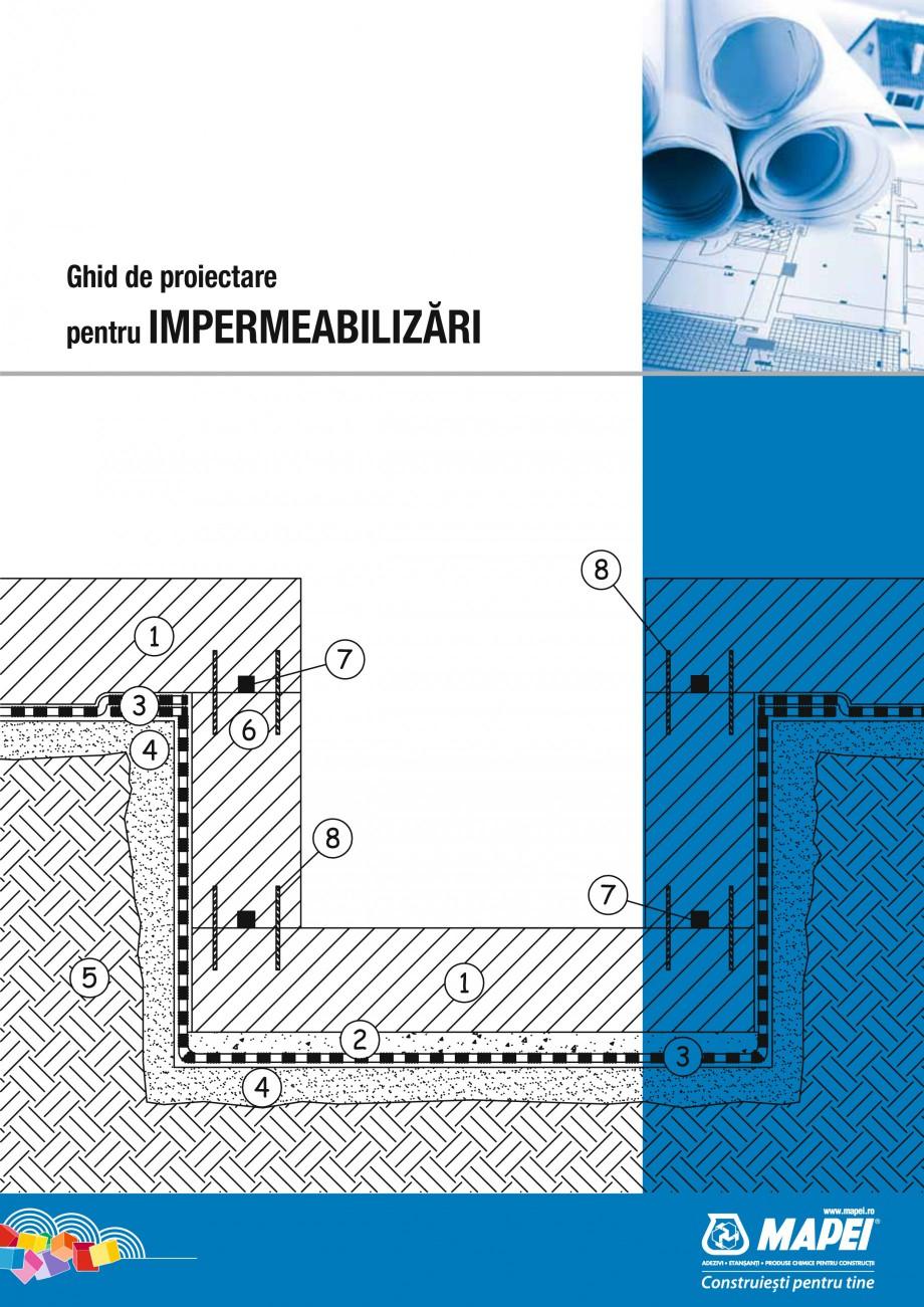 Pagina 1 - Ghid proiectare impermeabilizari solutii  MAPEI Catalog, brosura Romana Ghid de...