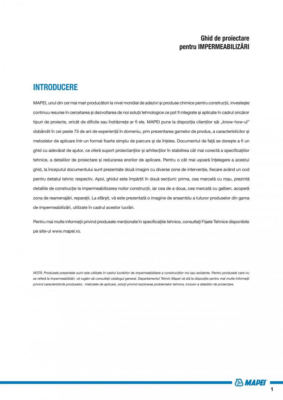 Pagina 3 - Ghid proiectare impermeabilizari solutii  MAPEI Catalog, brosura Romana entru mai multe...