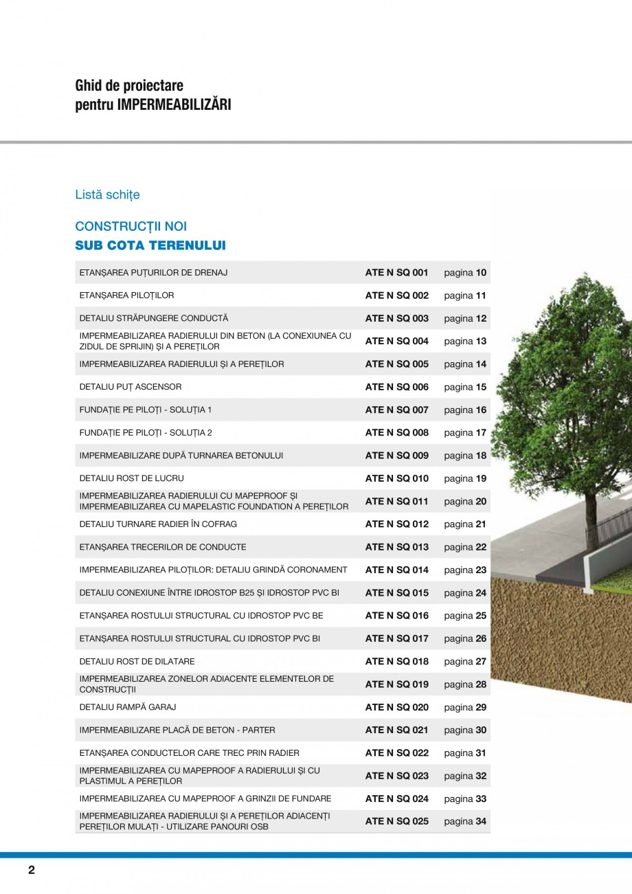 Pagina 4 - Ghid proiectare impermeabilizari solutii  MAPEI Catalog, brosura Romana ATE N SQ 011 ...