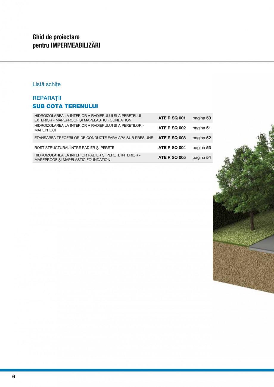 Pagina 8 - Ghid proiectare impermeabilizari solutii  MAPEI Catalog, brosura Romana AREA UNEI...
