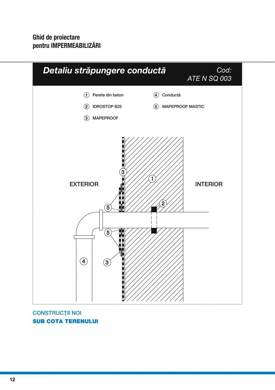 Pagina 14 - Ghid proiectare impermeabilizari solutii  MAPEI Catalog, brosura Romana l  3 MAPEPROOF ...