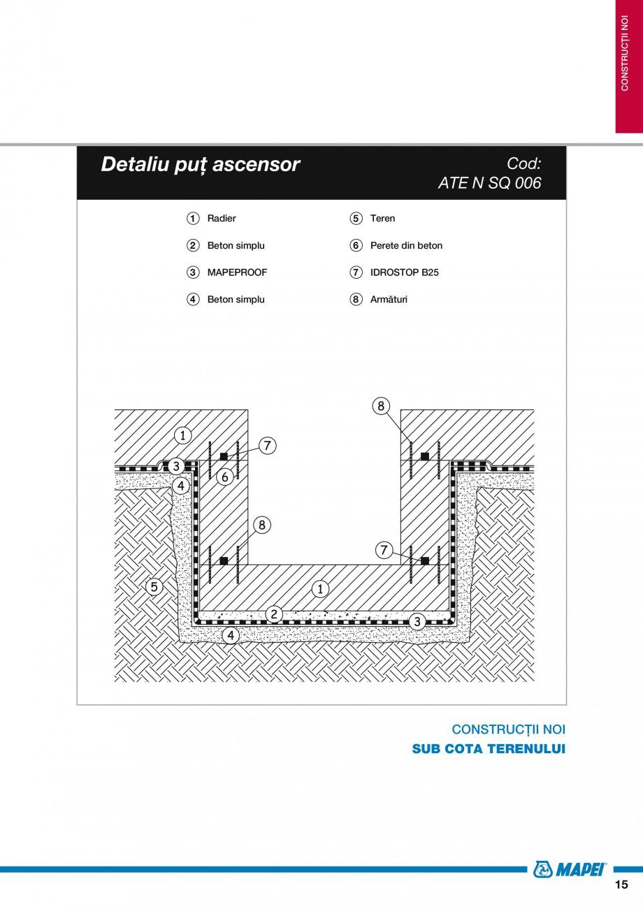 Pagina 17 - Ghid proiectare impermeabilizari solutii  MAPEI Catalog, brosura Romana TO (șapă de...