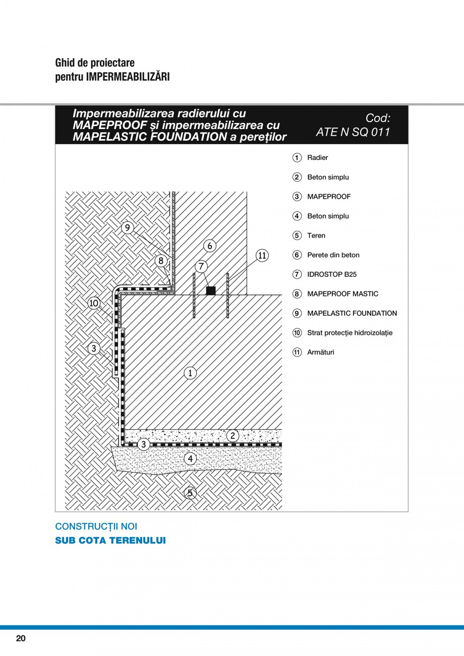 Pagina 22 - Ghid proiectare impermeabilizari solutii  MAPEI Catalog, brosura Romana RACOLOR PLUS...