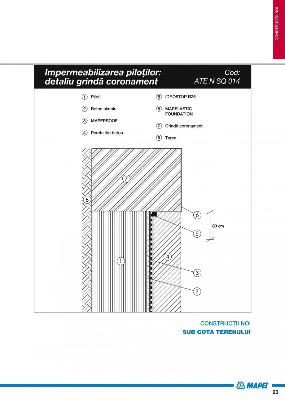 Pagina 25 - Ghid proiectare impermeabilizari solutii  MAPEI Catalog, brosura Romana ment de...