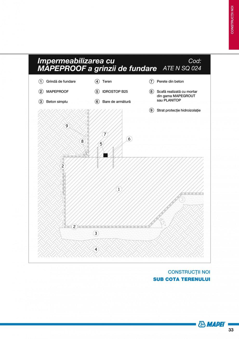 Pagina 35 - Ghid proiectare impermeabilizari solutii  MAPEI Catalog, brosura Romana