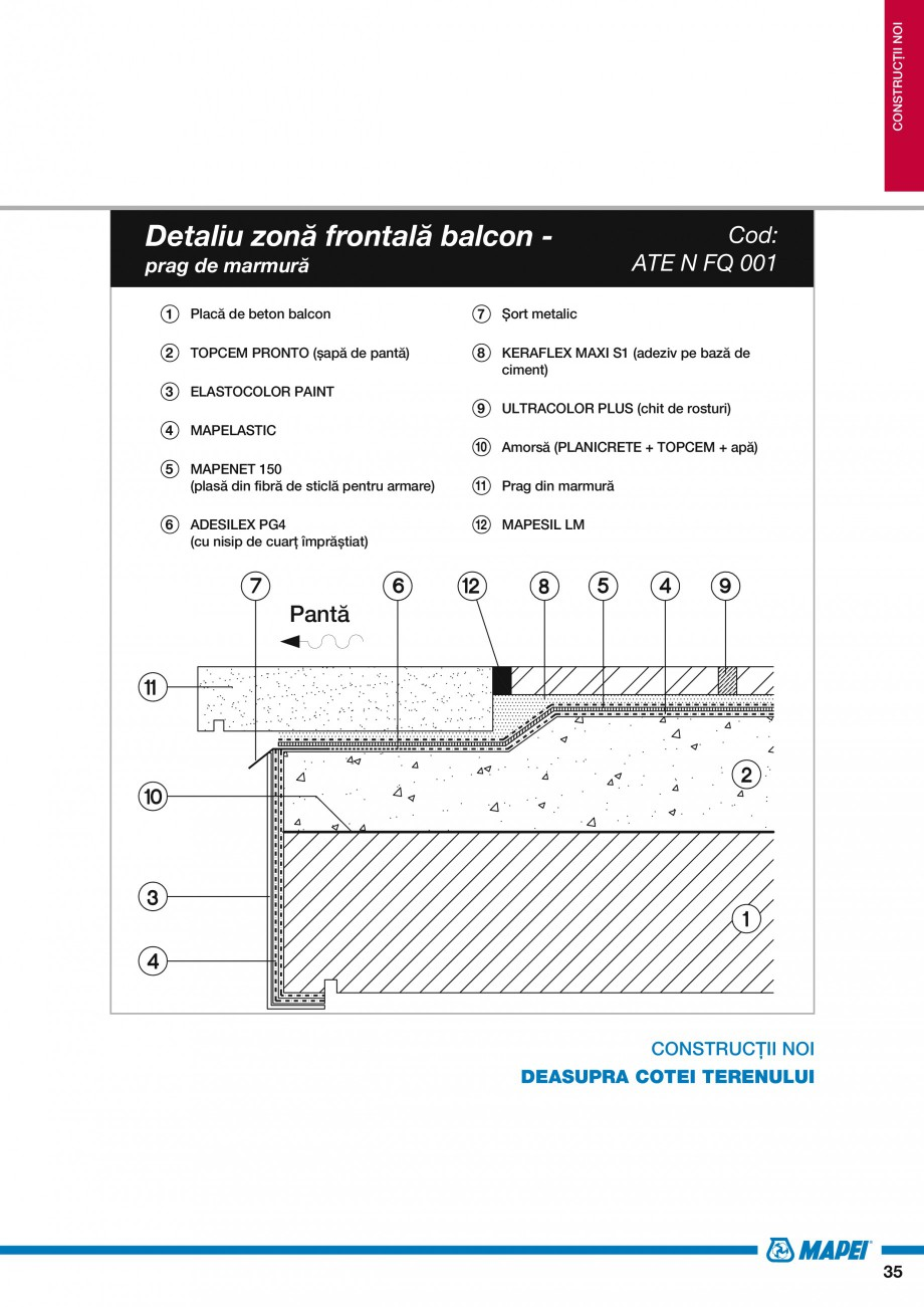 Pagina 37 - Ghid proiectare impermeabilizari solutii  MAPEI Catalog, brosura Romana