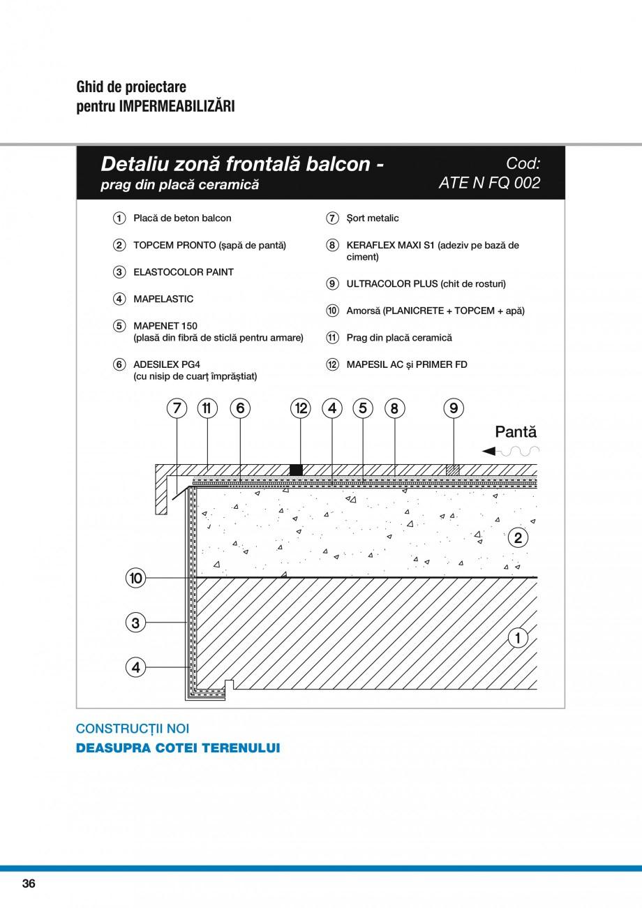 Pagina 38 - Ghid proiectare impermeabilizari solutii  MAPEI Catalog, brosura Romana
