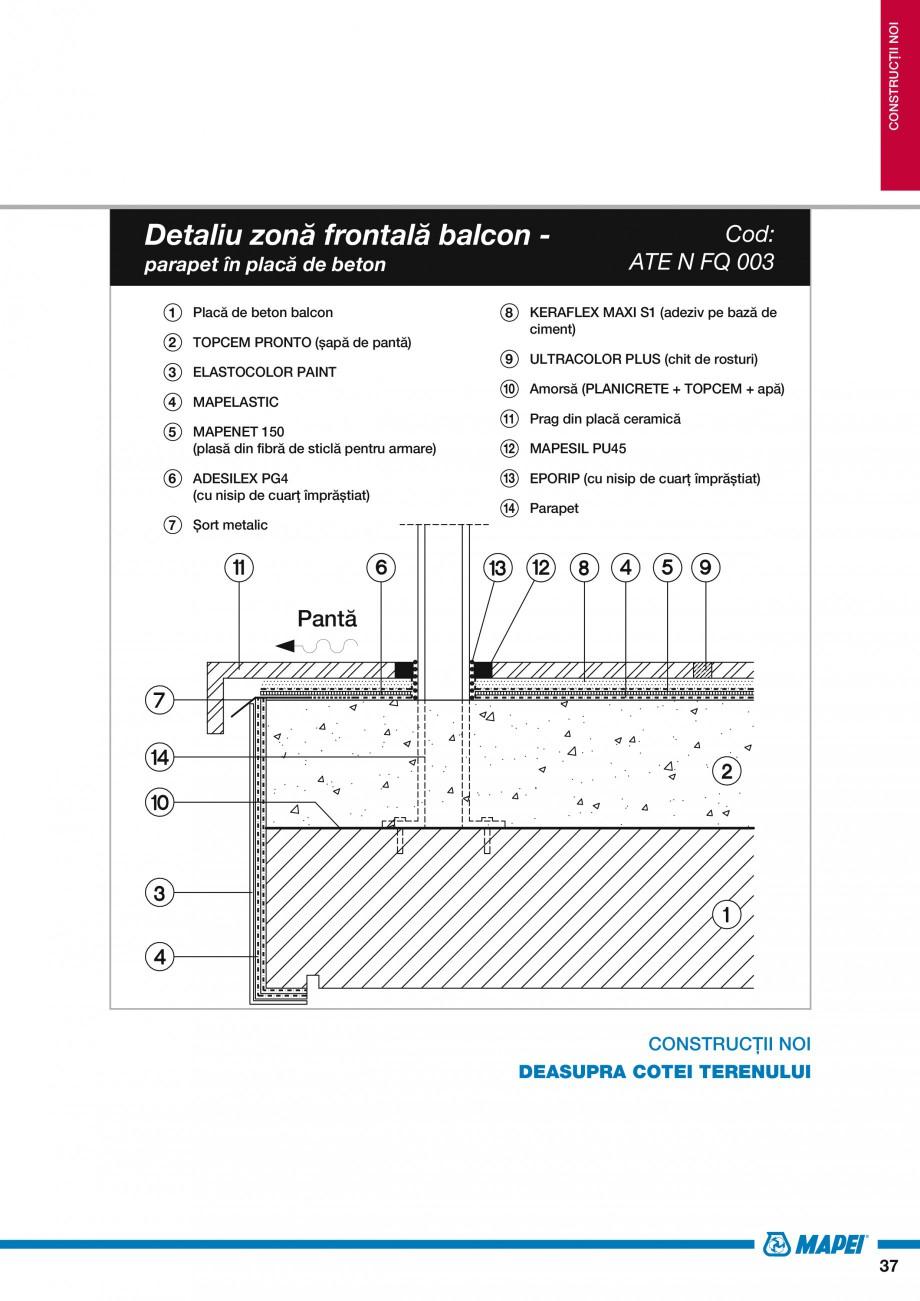 Pagina 39 - Ghid proiectare impermeabilizari solutii  MAPEI Catalog, brosura Romana